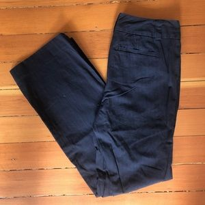 Gap Curvy Navy Blue Pant with thin Stripe 8